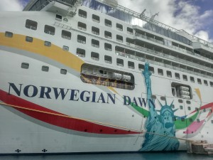 Norwegian Dawn at Kings Wharf, Bermuda